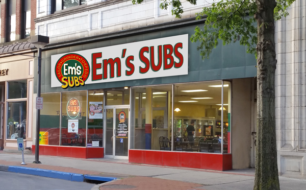 Em's Sub Shop Main Street, Downtown, Johnstown PA